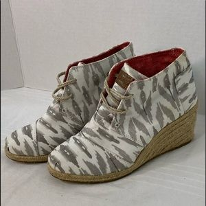 TOM'S Canvas Wedges